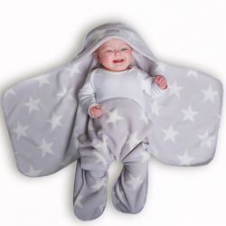 Grey Star Nod Pod Baby Blanket