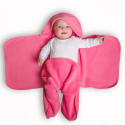 Rose Pink Nod Pod Baby Blanket