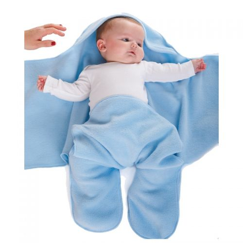 Soft Blue Nod Pod Baby Blanket